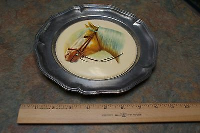 pewter horse plate