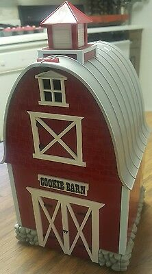 """Original Green Acres Cookie Jar Red Barn Canister-Plays""""green Acres"""" Song-Euc !"""