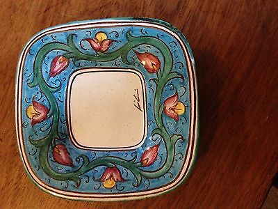 Vintage and Very Decorative C.A.F.F. Gubbio-Italy Pottery Dish