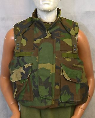 """Us Army Armour Body Fragmentation Vest With Filler 37"""" Chest Size Small, Uk Med"""