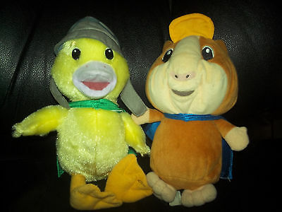 Wonder Pets Ming Ming Duck and Linny Hamster Fisher Price 10 inches Tall Plush