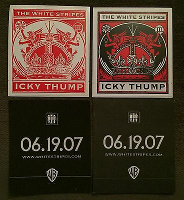White Stripes Icky Thump Sticker Set Promo RARE 2007