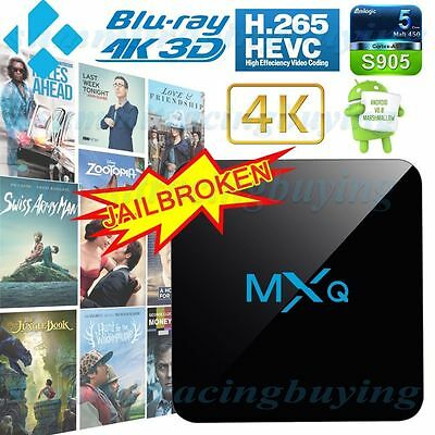 2017 MXQ PRO Quad Core Android 6.0 TV Box Fully Loaded KODI **TRACKED DELIVERY**