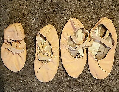 Bloch Pink Ballet Shoes 3.5B Lot Of 2