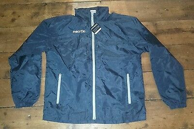 《 Navy Windbreaker K-Way Full Zip Mesh Lining Praia - Macron - Size Medium 》