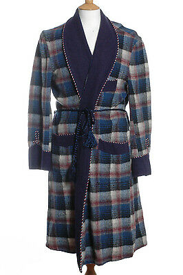 Vintage 1970's  Spinney Wool Dressing Gown Robe M