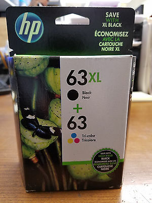 HP 63XL / 63 tri-color NEW IN BOX Genuine combo ink cartridges L0R48AN FREE ship