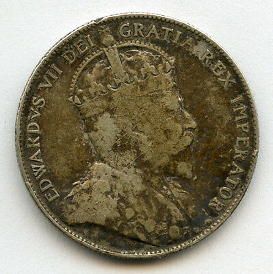 Canada 1902 Issue King Edward Vii 50 Cents Scarce,toned Fine.