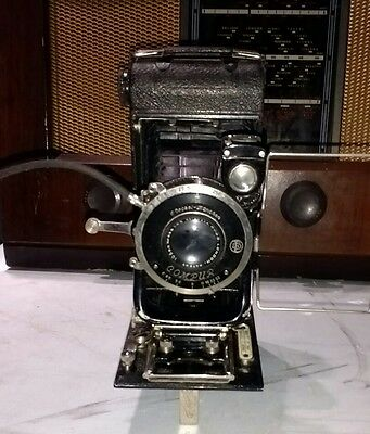 Ensign Carbine Folding Camera with compur shutter and Ross lens and case