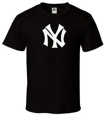 NY - Black T-shirt New York Yankees Champs Fan Empire State Mind All Sizes S-3XL