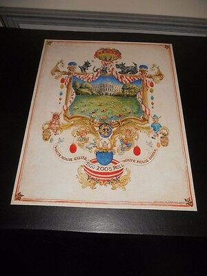 """2005 Easter At The White House Poster Egg Roll 16"""" x 20"""" Nice"""