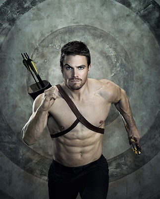 Stephen Amell Green Arrow CW 8x10 Photo Matte Paper Finish Lab Printed #1