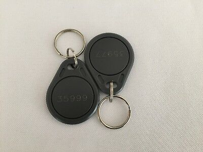 50 Keyfobs Proximity Key Fob Works with HID Proxkey 1346 H10301 26-Bit 125 kHz
