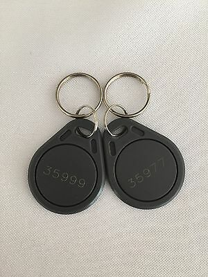 25 Proximity Key Fob Works With HID Proxkey 1346 26-Bit 125kHz Key Fobs
