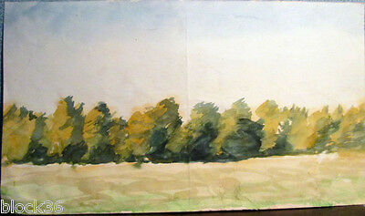 Landscape with ROW OF TREES by Russian artist A.M.Gromov