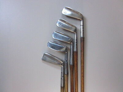 Antique Hickory Golf Clubs very collectable set of Maxwell Irons & Putter