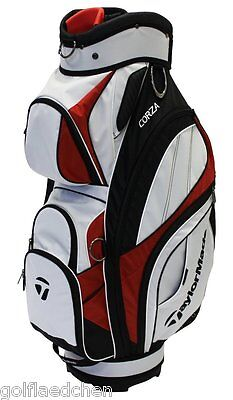 TAYLOR MADE Corza Cartbag / Golfbag - White / Black / Red - NEU - UVP 199,00 €