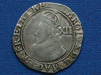 Charles I Shilling - Group A - Bust 2 - mm lis