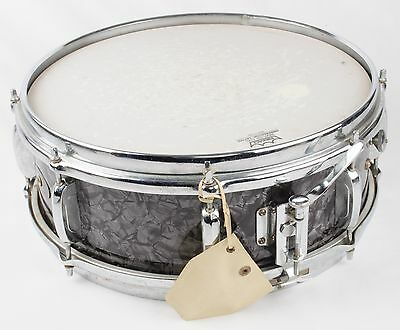 1960s APOLLO Vintage 5 x 14 SNARE DRUM Black MARINE Pearl MADE In JAPAN BMP +Key