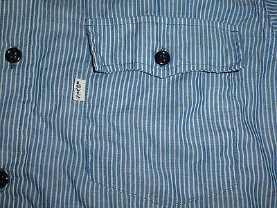 MADE IN USA vintage 80s LEVIS Levi's WESTERN COWBOY BLUE WORK SHIRT sz XL