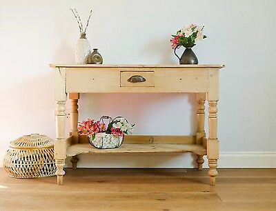 Antique Victorian Pine Washstand Dressing Table Console Table Desk with Drawer