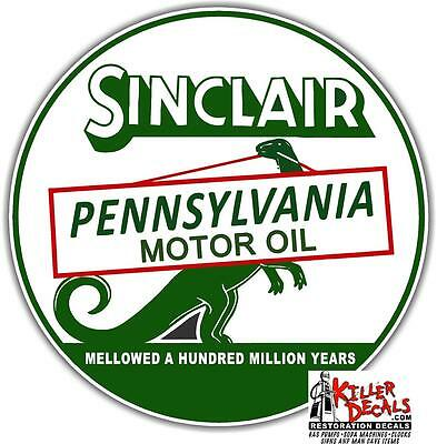 "12"" Sinclair Motor Oil Lubster Oil Can Gasoline Gas Decal"