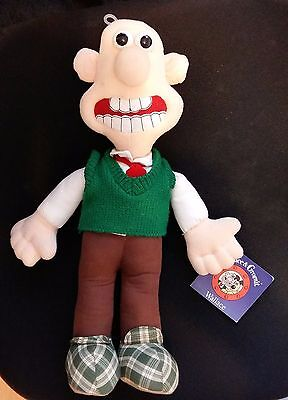 "Wallace & Gromit 15"" Aardman Animations Soft Plush Cuddly Toy Doll Tagged"