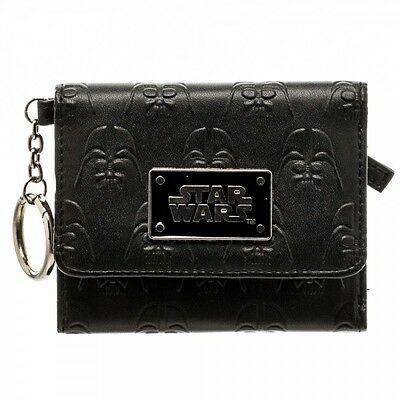 Star Wars Metal Badge Darth Vader Mini Trifold Wallet Rogue One Empire