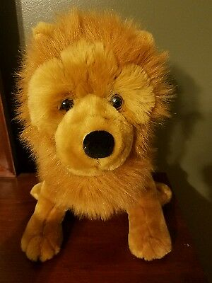 Vintage Large Plush Chow Chow Puppy Dog Stuffed