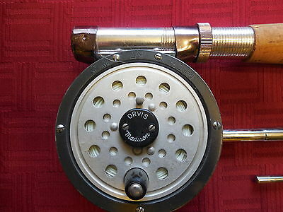 Orvis Fly Reel with Split Bamboo Rod