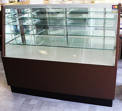 2 Used Brown Chocolate & Confectionery Display Cases – Non-Refrigerated