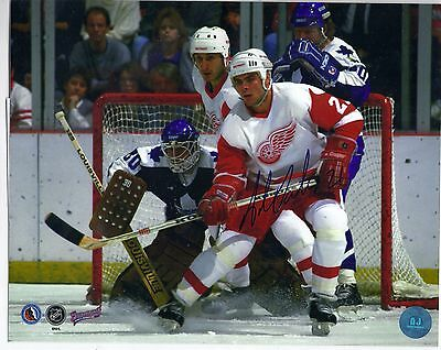 Adam Oates Detroit Red Wings HHOF Signed Autographed Hockey 8x10