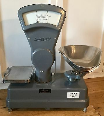 Avery Vintage Classic Grocery /  Sweet Shop Weighing Scales Grey Made in England