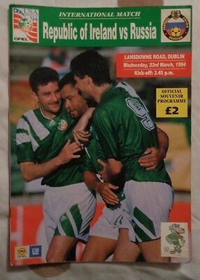 1994 International Friendly Republic Of Ireland V Russia