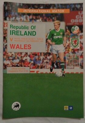 1992 International Friendly Republic Of Ireland V Wales