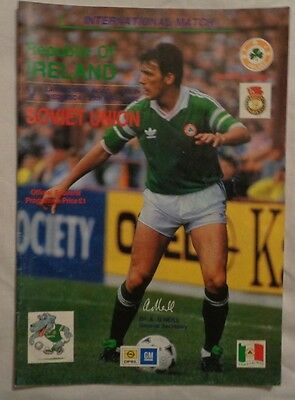 1990 International Friendly Republic Of Ireland V Soviet Union