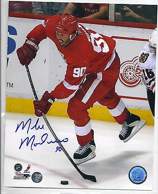Mike Modano Detroit Red Wings Signed Autographed Hockey 8x10