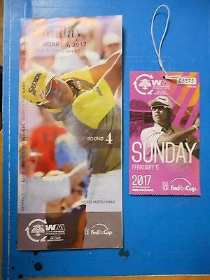 2017 Phoenix Waste Management Open Pga Ticket Stub & Pairing Sheet - Matsuyama