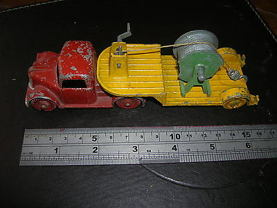 1950s CHARBENS /CRESCENT ?? DIECAST ARTIC CABLE TRUCK ( Crude but complete)