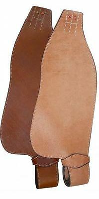 Showman Medium Light Smooth Leather Western Replacement Fenders