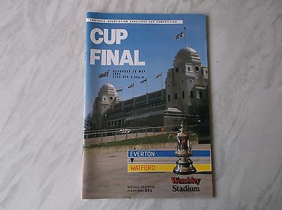 Everton Vs. Watford. F.a. Cup Final 1984. Excellent Condition Programme.