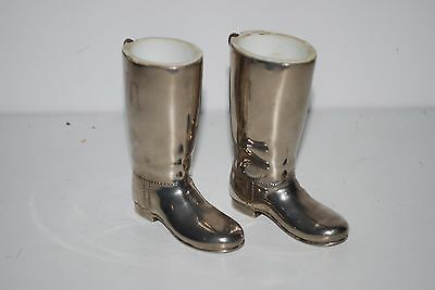Silver Plated Stirrup Cups Grenadier Boots