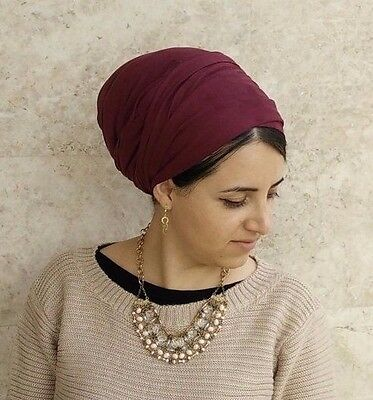hair wrap,Suede Leatherette head scarf,israel clothing,snood,hair covering,