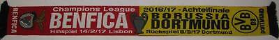 Benfica Borussia Dortmund Champions League 2016/17 Coloured Rare Scarf