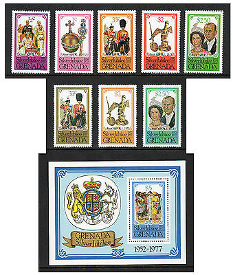 Grenada - Silver Jubilee Royal Visit (1977) Both Sets & Mini-Sheet