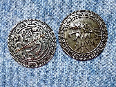 SPECIAL OFFER GoT Type Dragon Or Wolf Medallion Needle Minder Cross Stitch