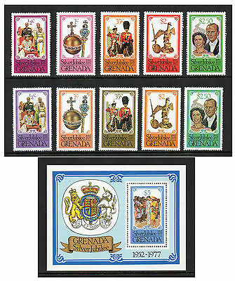 Grenada - Queen Elizabeth II Silver Jubilee (1977) Both Sets & Mini-Sheet