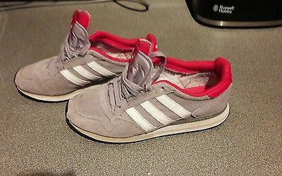 Ladies Adidas ZX 500 Grey White Red trainers UK size 6