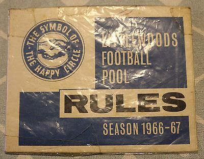 Littlewood Football Pool Rules 1966 - 67 mint condition sealed in protective bag