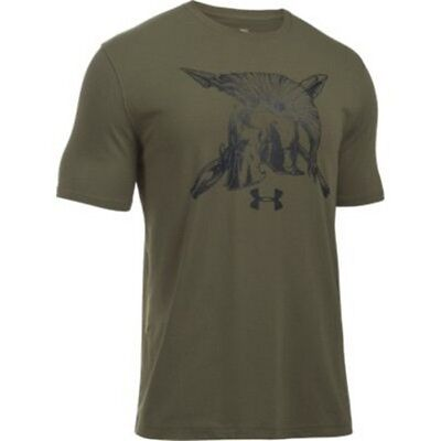 Under Armour 1290432 Men's Green Cotton Freedom Spartan T-Shirt Large